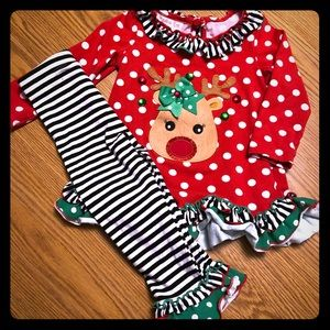 Other - Christmas Outfit- Reindeer- Boutique Style- 2T
